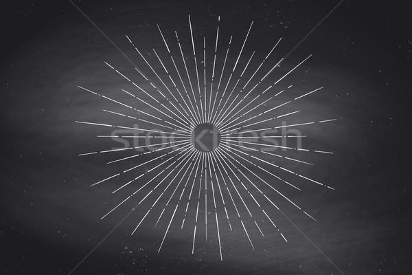 リニア 図面 光 日光 太陽 黒 ストックフォト © FoxysGraphic