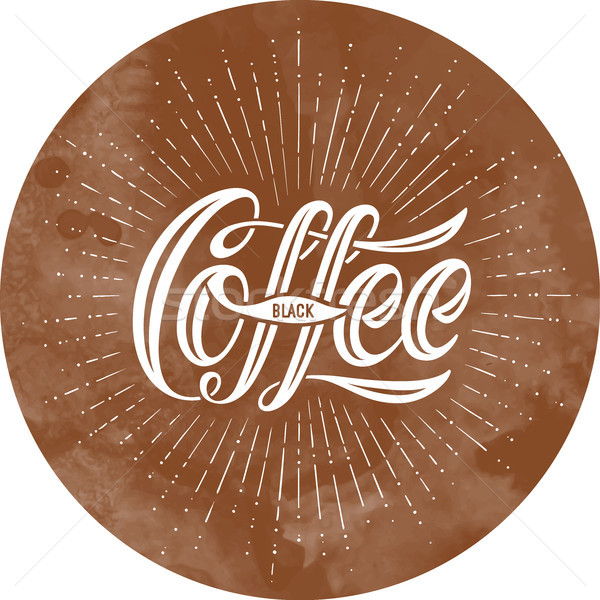 Inschrift Kaffee schwarz braun schwarzer Kaffee Stock foto © FoxysGraphic