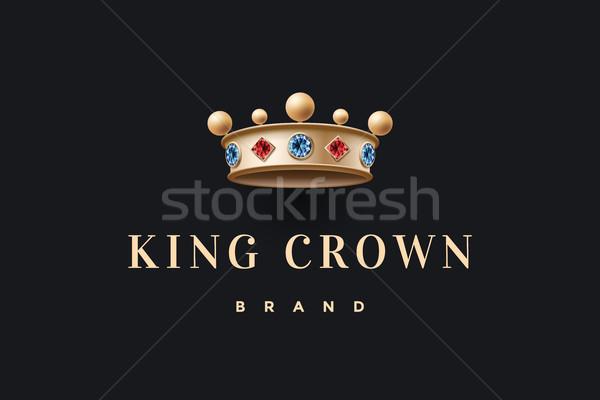 Logo oro rey corona marca Foto stock © FoxysGraphic