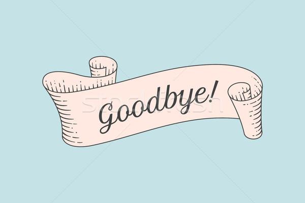 Grußkarte Band Wort willkommen alten Stock foto © FoxysGraphic