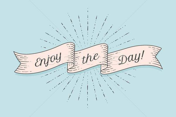リボン 文字 楽しむ 日 カラフル ヴィンテージ ストックフォト © FoxysGraphic