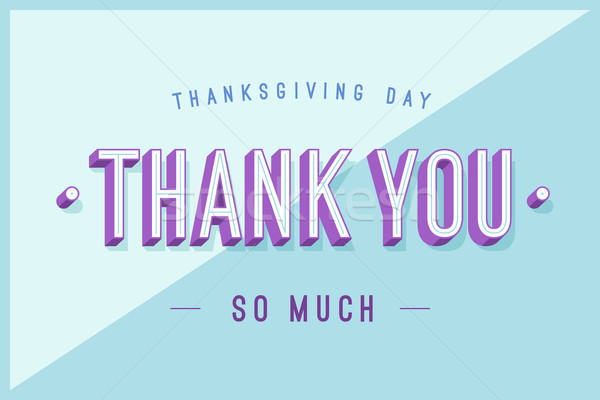 Greeting card with text Thank You so much Stock photo © FoxysGraphic