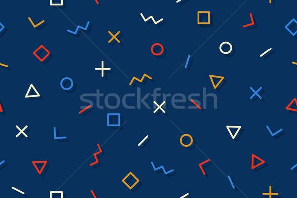 Senza soluzione di continuità grafica pattern stili buio Foto d'archivio © FoxysGraphic