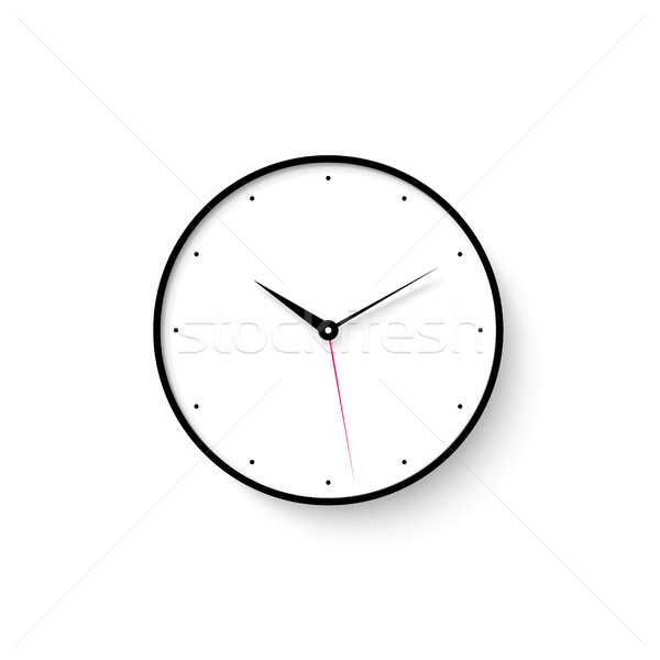 Icon of white clock face with shadow on wall background Stock photo © FoxysGraphic