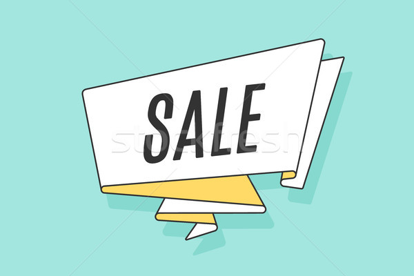 Lint banner tekst verkoop korting winkel Stockfoto © FoxysGraphic