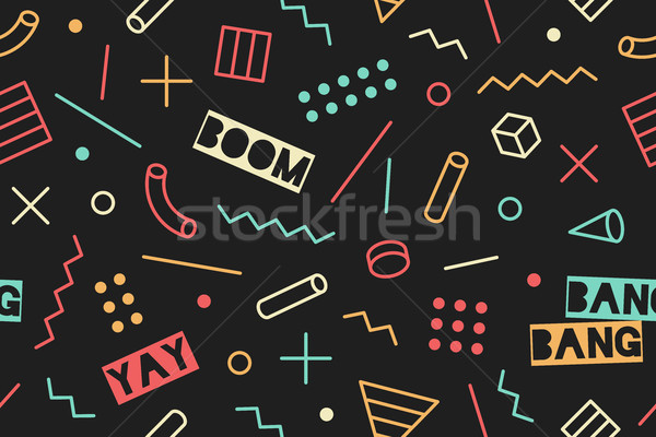Seamless graphic memphis pattern Stock photo © FoxysGraphic