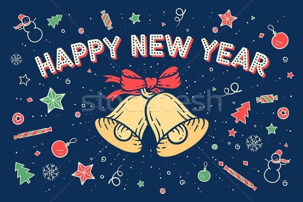 Greeting card Happy New Year Stock photo © FoxysGraphic