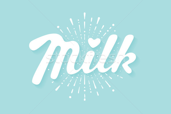 Lettering Milk and milk drop splash Stock photo © FoxysGraphic