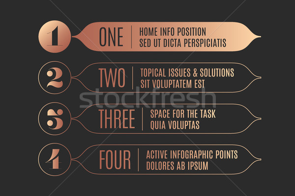 Set of infographic design, vintage arrows, banners, numbers and text Stock photo © FoxysGraphic