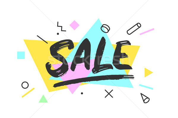Sale. Banner, speech bubble Stock photo © FoxysGraphic