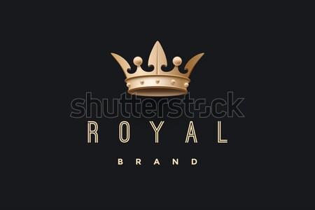 эмблема золото царя корона королевский Сток-фото © FoxysGraphic