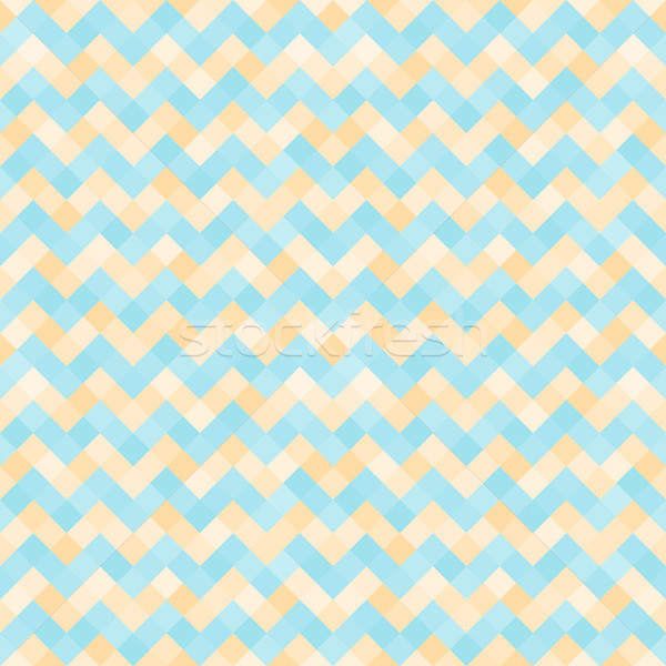Seamless abstract pattern with turquoise and yellow geometric mosaic zigzag Stock photo © FoxysGraphic