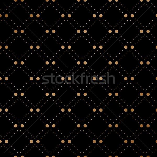 Arany fátyol végtelen minta fekete divat absztrakt Stock fotó © FoxysGraphic