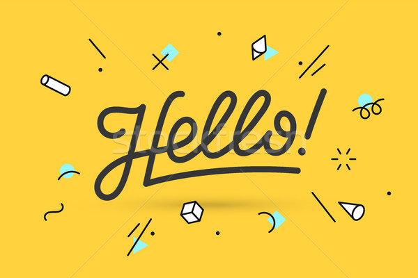 Hello. Lettering for banner Stock photo © FoxysGraphic