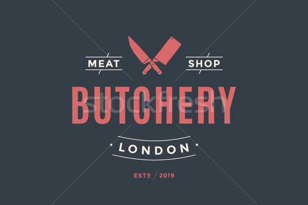Label of Butchery meat shop Stock photo © FoxysGraphic