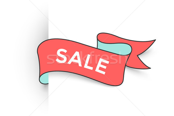 лента баннер текста продажи скидка поощрения Сток-фото © FoxysGraphic
