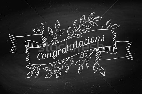 Tarjeta de felicitación felicitaciones estilo edad Foto stock © FoxysGraphic