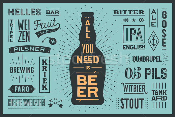 плакат необходимость пива баннер текста Сток-фото © FoxysGraphic