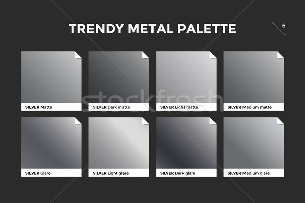 Silver gradient template, vector icon Stock photo © FoxysGraphic