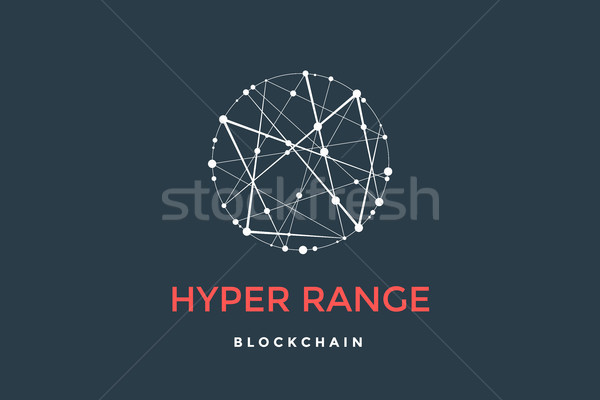 Template emblem for blockchain technology Stock photo © FoxysGraphic