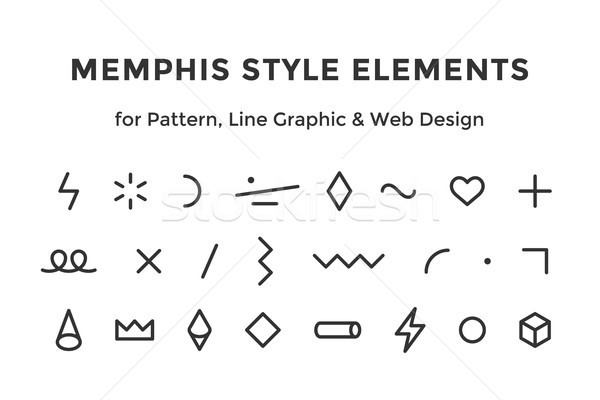 Memphis style elements Stock photo © FoxysGraphic