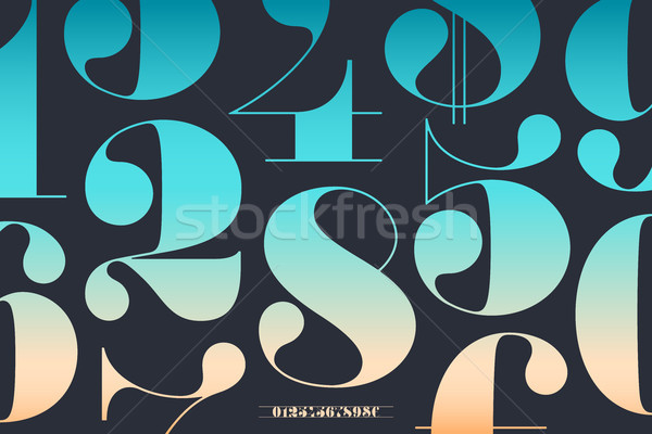 Font of numbers in classical french didot Stock photo © FoxysGraphic