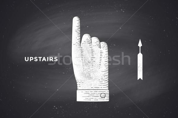 рисунок рукой знак стиль Vintage Сток-фото © FoxysGraphic