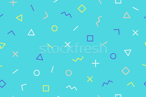 Seamless graphic pattern trendy style Stock photo © FoxysGraphic