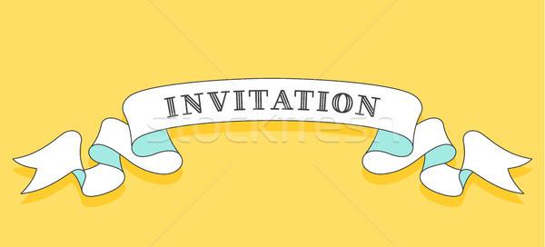 Invitación vintage de moda cinta texto color Foto stock © FoxysGraphic