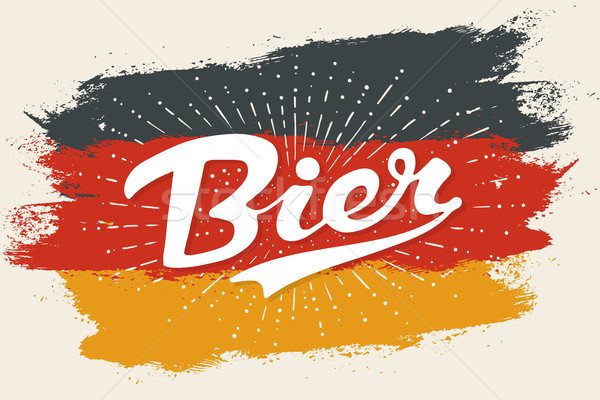 Hand drawn lettering Beer Stock photo © FoxysGraphic