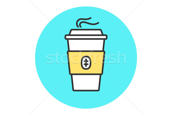 Icon of coffee cup Stock photo © FoxysGraphic