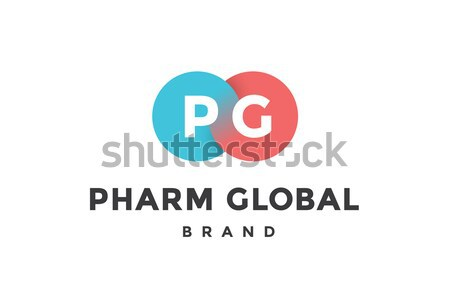Stock photo: Emblem of business company with two circle