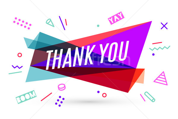 Ribbon banner with text Thank You Stock photo © FoxysGraphic