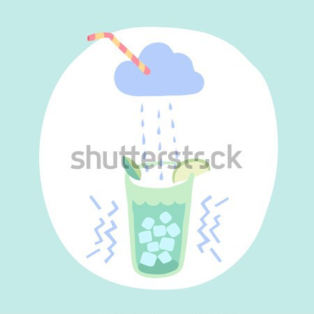 Glass of lemonade, cloud and rain cocktail Stock photo © FoxysGraphic