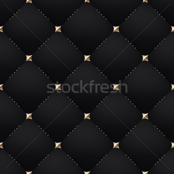 Seamless luxury dark black pattern and background Stock photo © FoxysGraphic