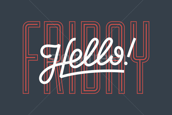 Hello banner plakat naklejki tekst ikona Zdjęcia stock © FoxysGraphic