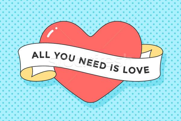 старые лента сообщение необходимость любви Сток-фото © FoxysGraphic