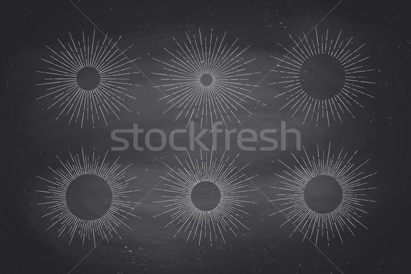 Stockfoto: Ingesteld · licht · stralen · zon · ontwerp · communie