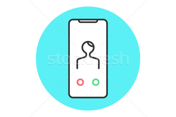 Stock photo: Icon abstract smartphone