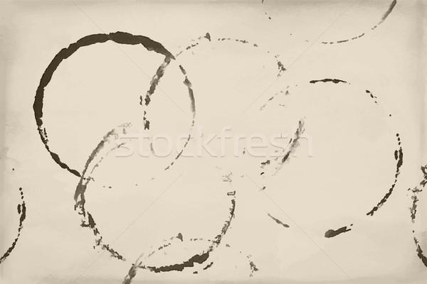 Stockfoto: Bier · wijn · koffie · ring