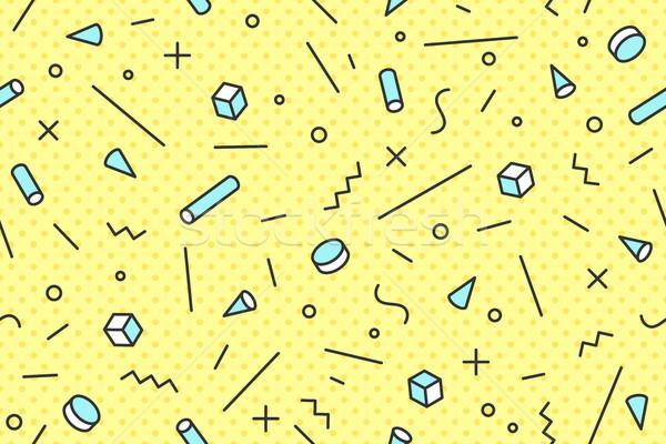 Végtelenített grafikus minta trendi stílusok kék Stock fotó © FoxysGraphic