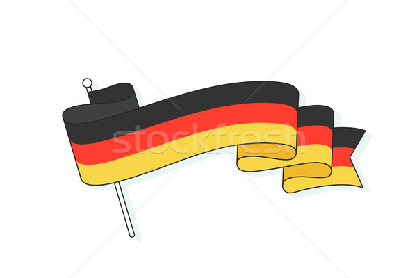 Bandiera Germania tre stripe onda Foto d'archivio © FoxysGraphic