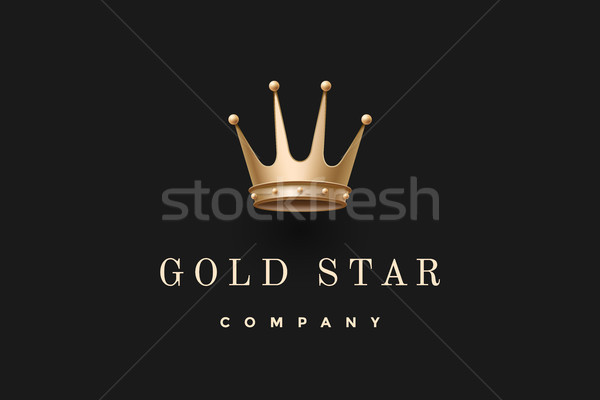 Logo with king crown and inscription Gold Star Company Stock photo © FoxysGraphic