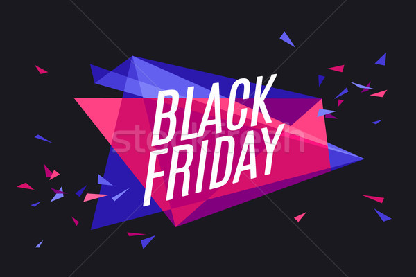 Steag text black friday emoţie curiozitate Imagine de stoc © FoxysGraphic