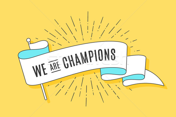 Vintage ribbon flag We are Champions Stock photo © FoxysGraphic