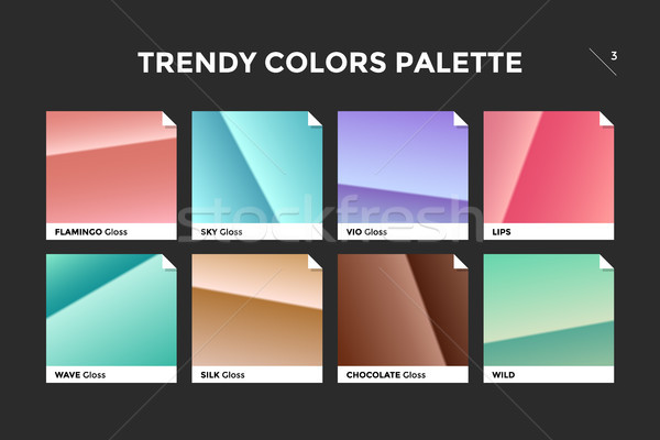 Set of colorful trendy gradient template Stock photo © FoxysGraphic