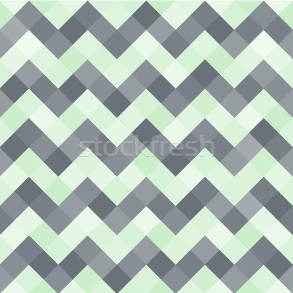 シームレス 抽象的な パターン ターコイズ 黒 幾何学的な ストックフォト © FoxysGraphic