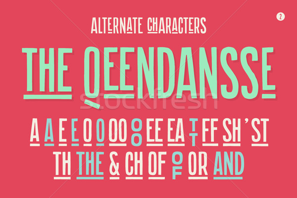 Hand-drawn condensed alphabet and font. Part One Stock photo © FoxysGraphic