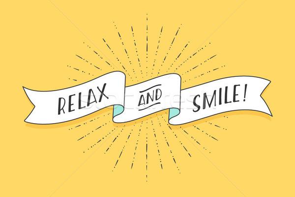 Nastro testo relax sorriso positivo colorato Foto d'archivio © FoxysGraphic