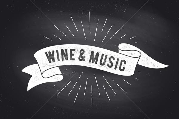 Bor zene klasszikus szalag szalag rajz Stock fotó © FoxysGraphic
